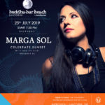 Celebrate Sunset in BUDDHA BAR, Santorini with our Official DJ Marga Sol